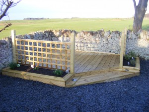 Decking, raised beds, fencing, paving - we do it all.
